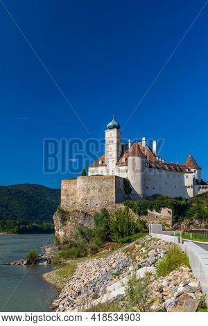 Schonbuhel castle from the 12th century on Danube, Lower Austria, Austria