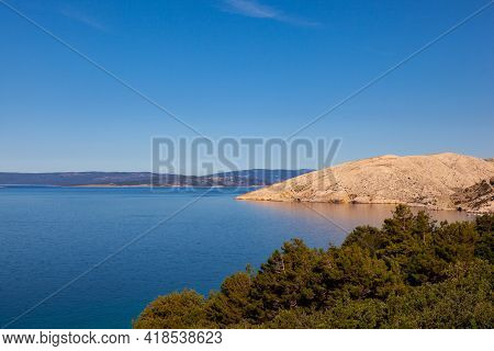 View Of The Stara Baska Coast During The Summer Time