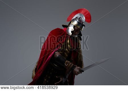 Evil Roman Warrior Of African Descent With Sword