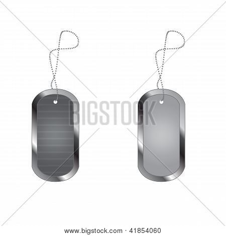 Empty Blank Military Dog Tags