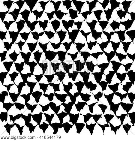 Abstrak_5Illusion Abstract Black And White Pattern. Monochrome Pattern. Optical Illusion. Op Art.