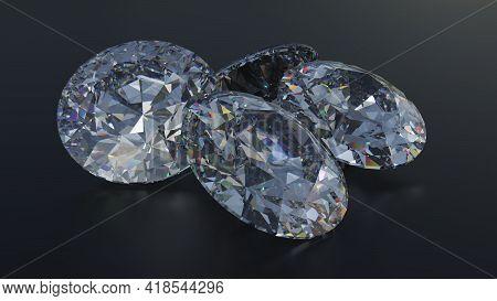 3d Illustration Gemstone Diamond Glittering Valuable Jewelry