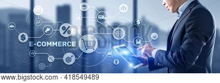 E-commerce Business Digital Marketing Concept. Electronic Commerce