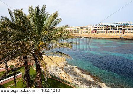 The Beach At Luxury Hotel, Malta Island