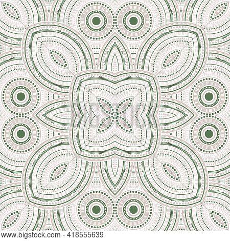 Linear Portugese Azulejo Tile Seamless Ornament. Ethnic Geometric Vector Motif. Curtains Print Desig