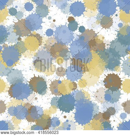 Graffiti Spray Transparent Stains Vector Seamless Wallpaper Pattern. Abstract Ink Splatter, Spray Bl