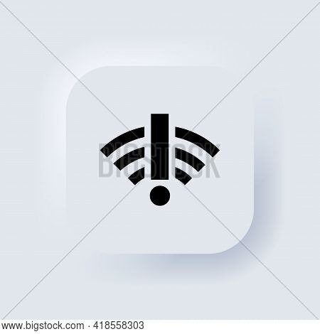 No Internet Connection Icon. Weak, No Signal, Bad Antenna Sign. Bad Connection Problems Concept. Neu