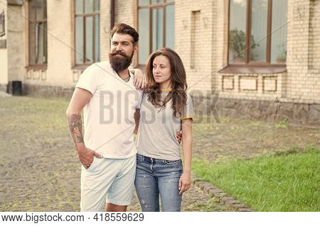 Love Should Not Be All On One Side. Couple In Love. Love Affair. Developing Love Relationship. Beard