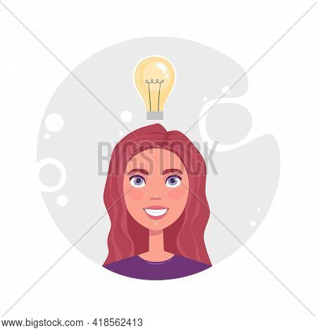 Concept Of Productive Self Organization Cute Girl, Effective Time Management, Organize Work. Woman I