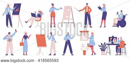 Business Trainers. Office Team Business Training And Coaching, Speakers Presentation, Business Strat