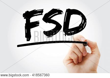Fsd - Functional Specifications Document Acronym With Marker, Concept Background
