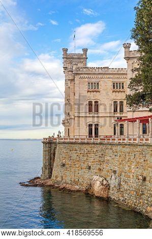 Miramare Castle At Adriatic Sea Near Trieste Italy