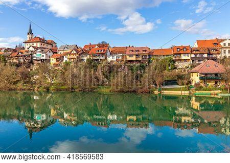 Reflection In River Krka Novo Mesto Slovenia