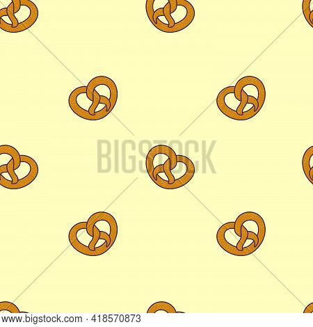 Seamless Bretzel Pattern For Oktoberfest Decoration Backgrounds And Banners
