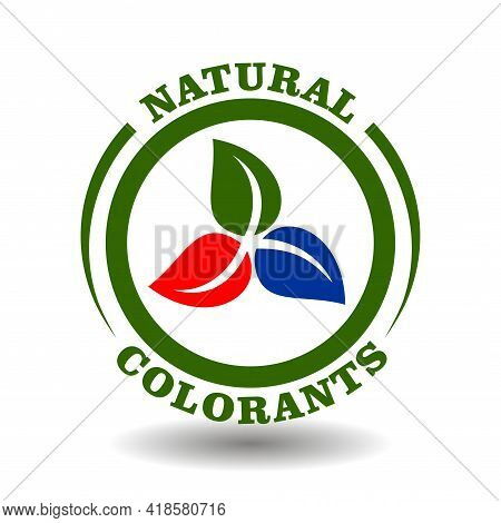 Vector Stamp Natural Rgb Colorants, Organic Color Ingredients For Product Packaging. Vector Icon Wit