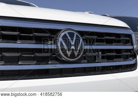 Avon - Circa April 2021: Volkswagen Cars And Suv Dealership. Vw Is Among The World's Largest Car Man