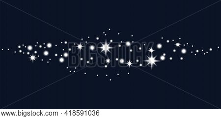 Abstract Milky Way For Wallpaper Design. Nature Illustration. Vector Illustration. Stock Image. Eps