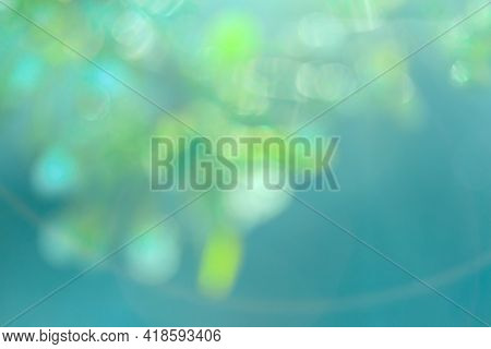 Blurred Background. The Concept Of Natural Elements, Gradient. Abstract Bokeh Blue, Green Background