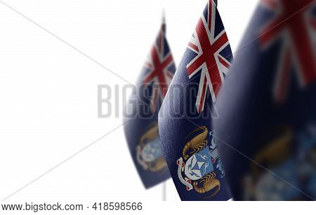Small National Flag Of The Tristan Da Cunha On A White Background