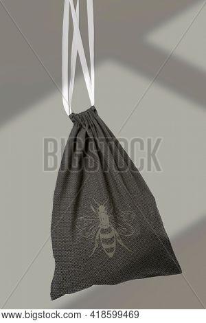 Drawstring pouch bag black accessory studio shoot