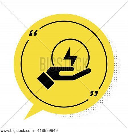 Black Lightning Bolt Icon Isolated On White Background. Flash Sign. Charge Flash Icon. Thunder Bolt.