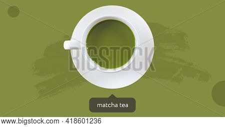 Green Matcha Tea. Matcha Latte. Japanese Tea Ceremony. Cup Of Tea.  Dialog Box. Cooking With Matcha,