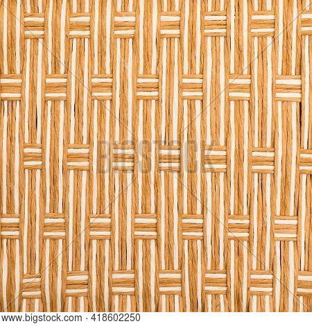 Detail hand craft of weaving texture background