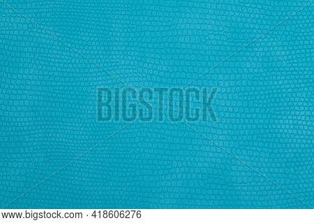 Turquoise fake snake skin pattern as background