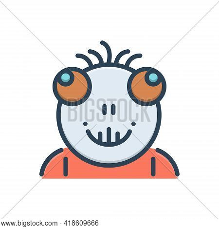 Color Illustration Icon For Abhorrent Hideous Despicable Ignoble Sordid
