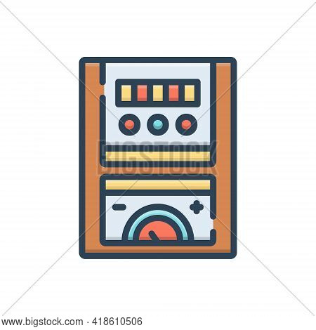 Color Illustration Icon For Meter Numerator Metre Measurer  Gauge