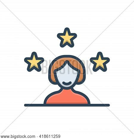Color Illustration Icon For Customer Client Subscriber Clientele Underwriter Purchaser Kharidaar Ven