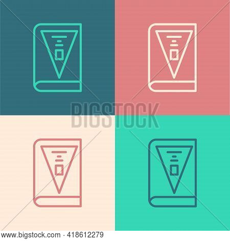Pop Art Line 26 November India Constitution Day Icon Isolated On Color Background. Vector