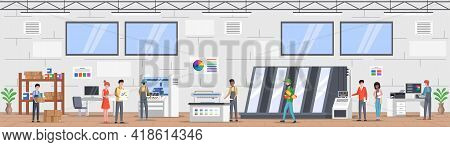 Printing House Polygraphy Industry Composition. Print And Polygraphy Industry Concept. Printing Hous