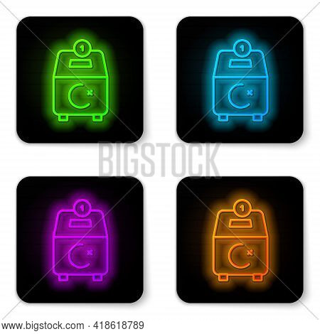 Glowing Neon Line Donate Or Pay Your Zakat As Muslim Obligatory Icon Isolated On White Background. M