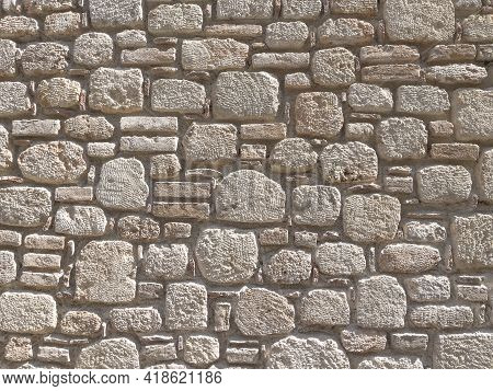 Textured Old House Stone Wall Background. Stonewall Background Or Texture.