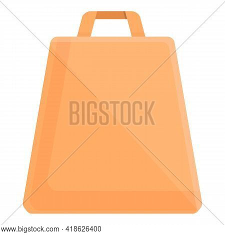 Takeaway Food Bag Icon. Cartoon Of Takeaway Food Bag Vector Icon For Web Design Isolated On White Ba