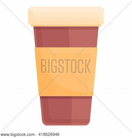 Coffee To Go Cup Icon. Cartoon Of Coffee To Go Cup Vector Icon For Web Design Isolated On White Back