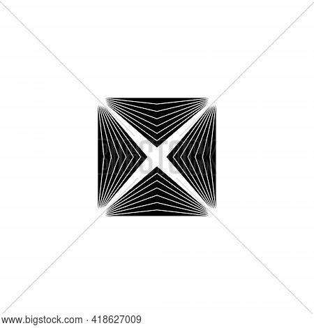 Checked Spike Abstract Edge Illustration - Geometric Shape Pattern Futuristic Art