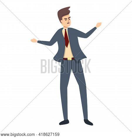 Rush Job Businessman Icon. Cartoon Of Rush Job Businessman Vector Icon For Web Design Isolated On Wh