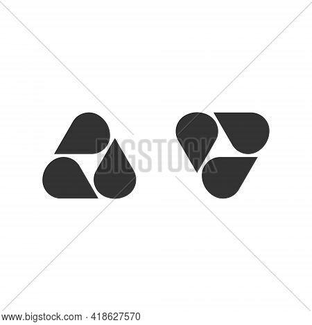 Abstract Logo - Geometric Shape Futuristic Illustration Liquid Geometry Technology Tech Flux Twist W