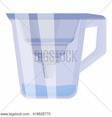 Jug Water Purification Icon. Cartoon Of Jug Water Purification Vector Icon For Web Design Isolated O