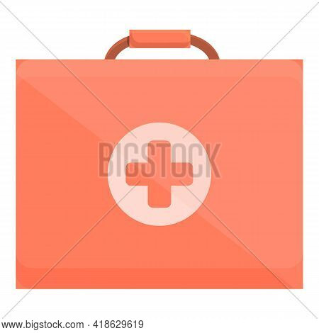 Hiking First Aid Kit Icon. Cartoon Of Hiking First Aid Kit Vector Icon For Web Design Isolated On Wh