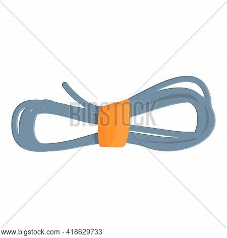 Hiking Rope Icon. Cartoon Of Hiking Rope Vector Icon For Web Design Isolated On White Background