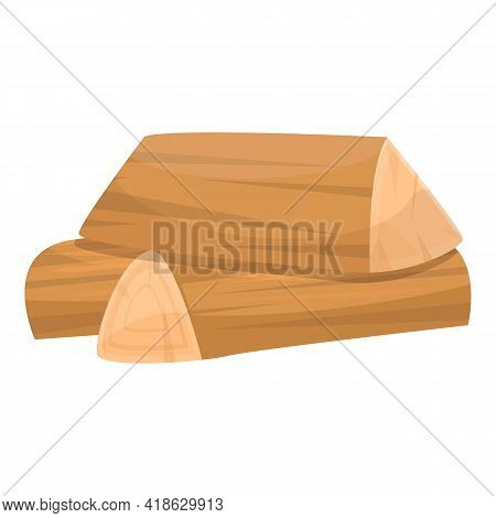 Wood Campfire Icon. Cartoon Of Wood Campfire Vector Icon For Web Design Isolated On White Background