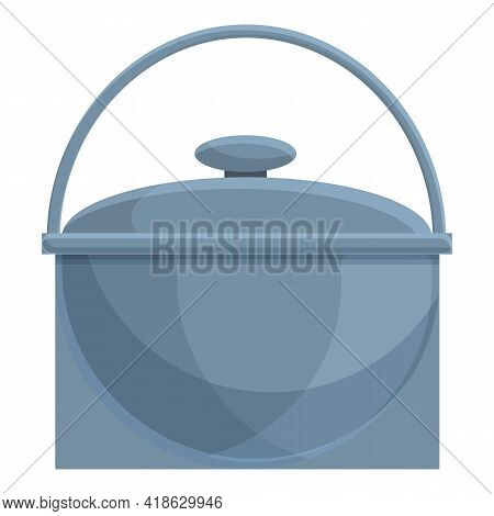 Camping Saucepan Icon. Cartoon Of Camping Saucepan Vector Icon For Web Design Isolated On White Back