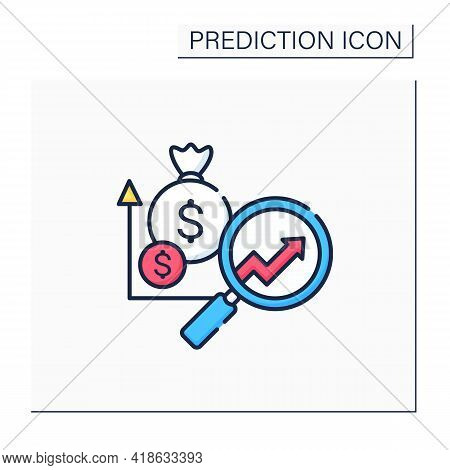Marketing Predictive Analytics Color Icon. Grow Profitable Customers. Detailed Research. Promote Cro