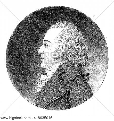 Portrait in profile of Pieter Philip Juriaan Quint Ondaatje, Johannes Arnoldus Boland, 1848 - 1922