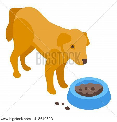 Disobedient Food Dog Icon. Isometric Of Disobedient Food Dog Vector Icon For Web Design Isolated On