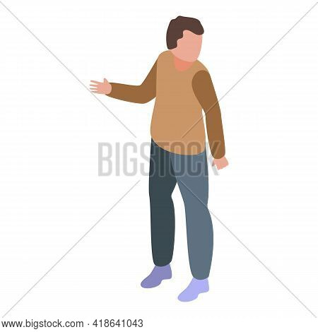 Boy Get Dislike Icon. Isometric Of Boy Get Dislike Vector Icon For Web Design Isolated On White Back