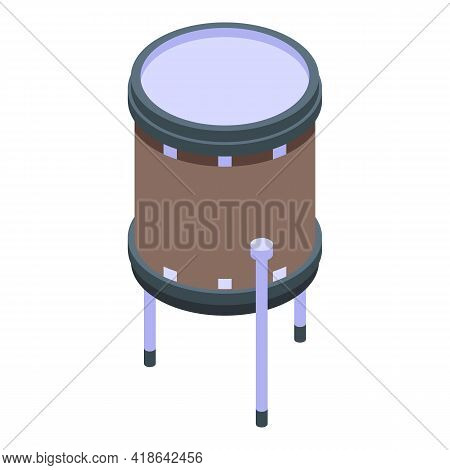 Crash Drums Icon. Isometric Of Crash Drums Vector Icon For Web Design Isolated On White Background